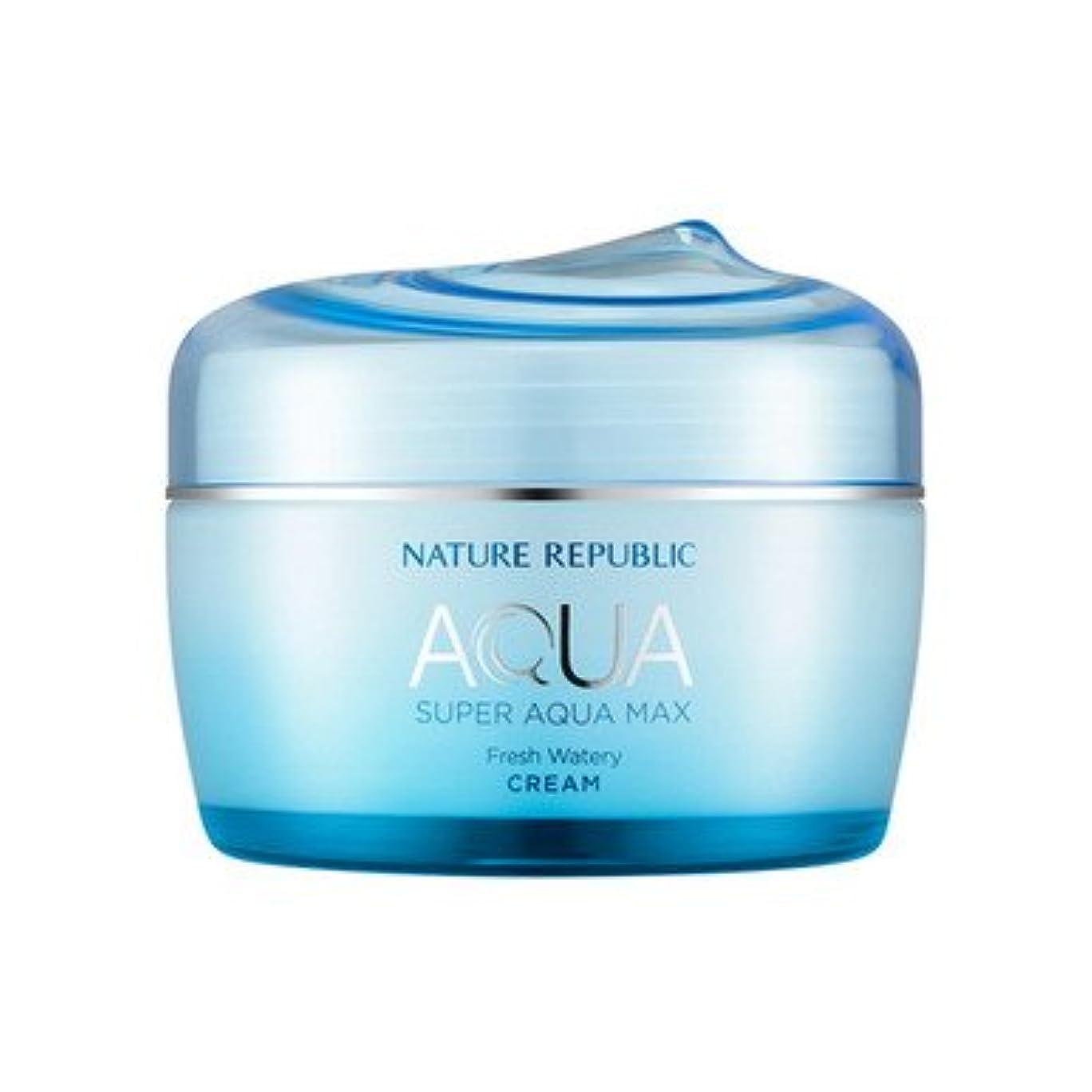 和時一般的に言えばNATURE REPUBLIC (ネイチャーリパブリック) スーパーアクア マックス フレッシュ水分クリーム80ml(オイリー肌向け)(2015年リニューアル版) [並行輸入品]