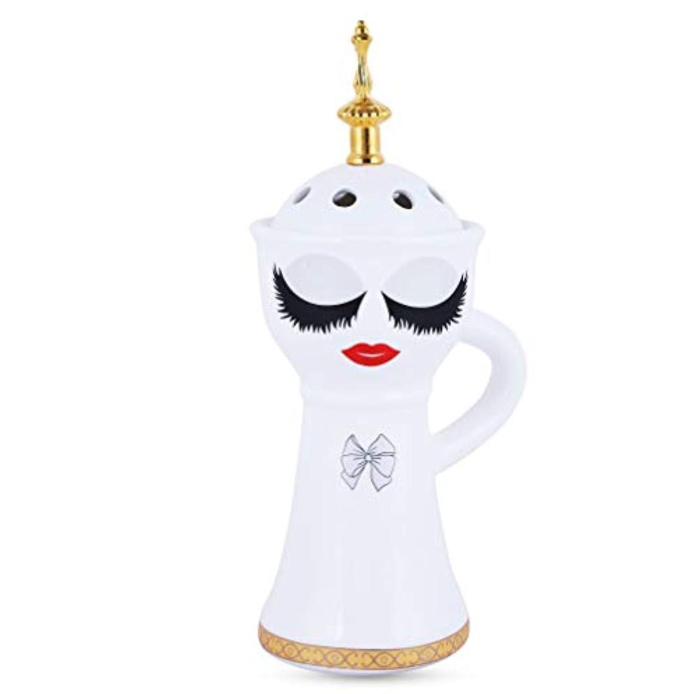 持続する断片レトルトBeautiful Ceramic Incense Bakhoor/Oud Burner Frankincense Incense Holder with Attractive Eyes, Non Electric, Best...