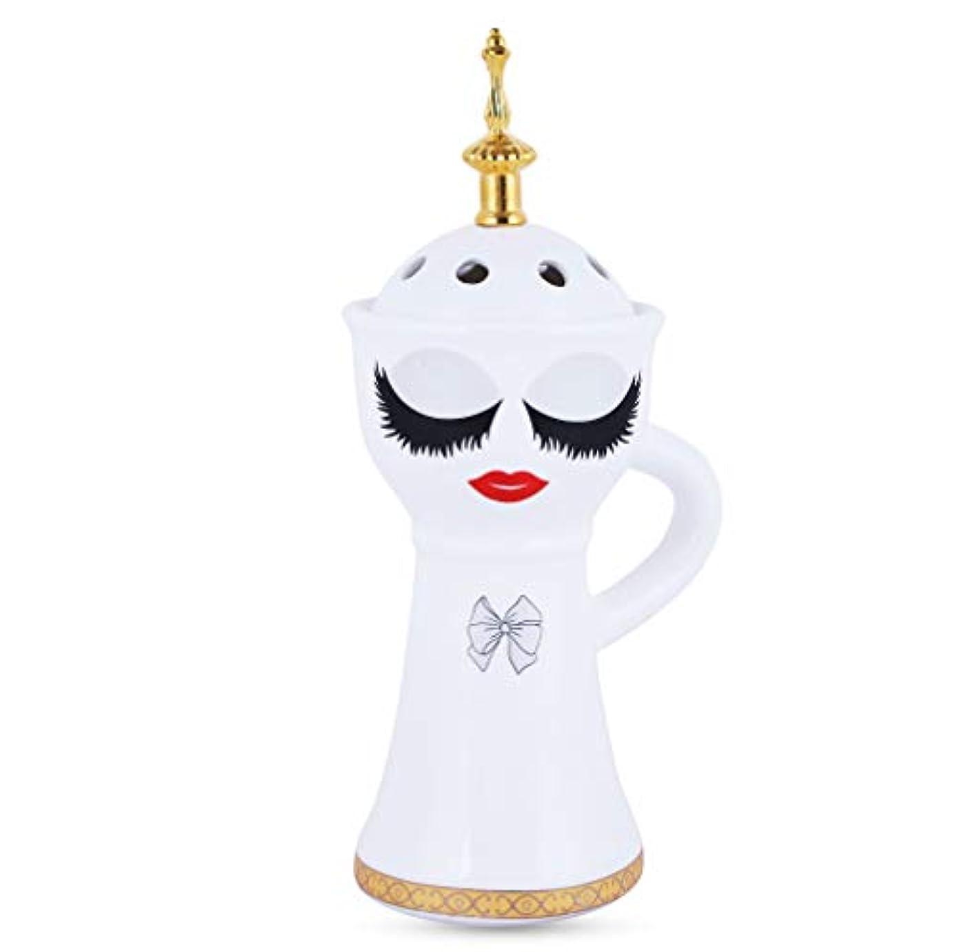 ビスケット安心させる蜜Beautiful Ceramic Incense Bakhoor/Oud Burner Frankincense Incense Holder with Attractive Eyes, Non Electric, Best for Gifting IB-026