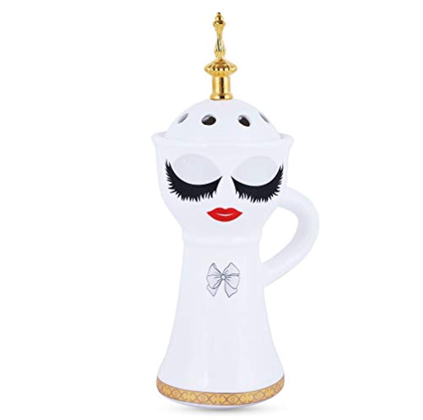 現実交流するプレゼンBeautiful Ceramic Incense Bakhoor/Oud Burner Frankincense Incense Holder with Attractive Eyes, Non Electric, Best...