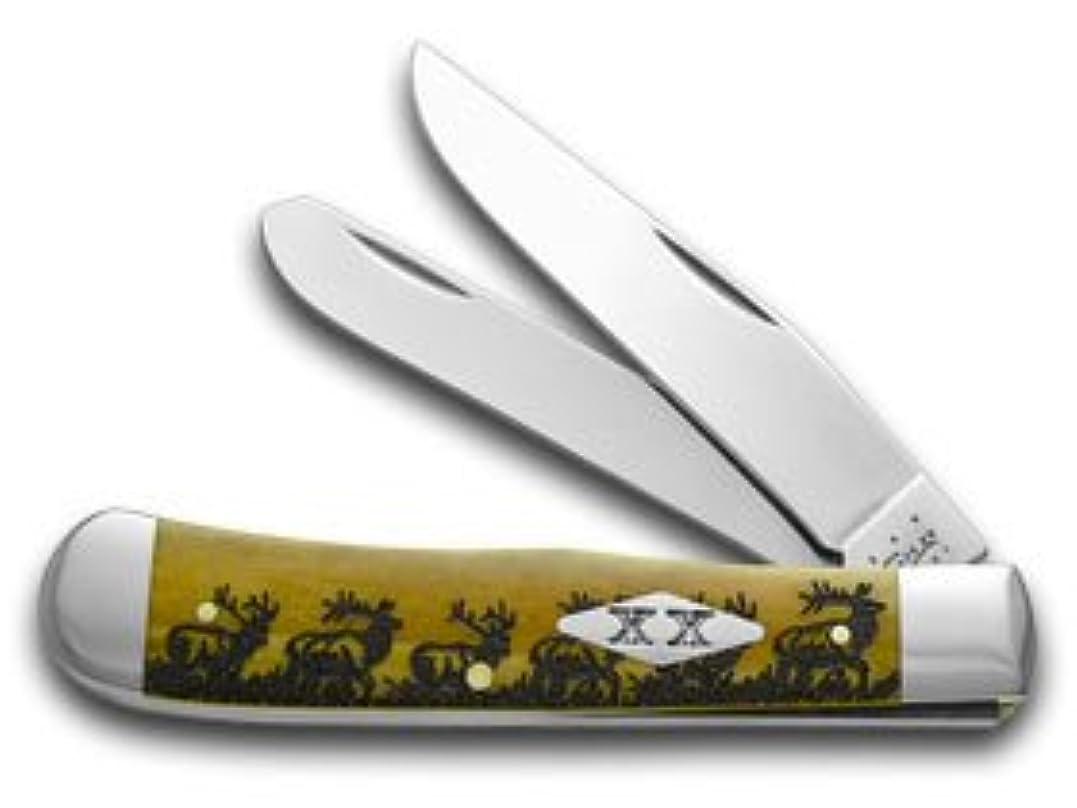 ダメージブロッサム賞賛CASE XX エルクウォーキング アンティーク 骨 トラッパー ステンレス 1/500 ポケットナイフ