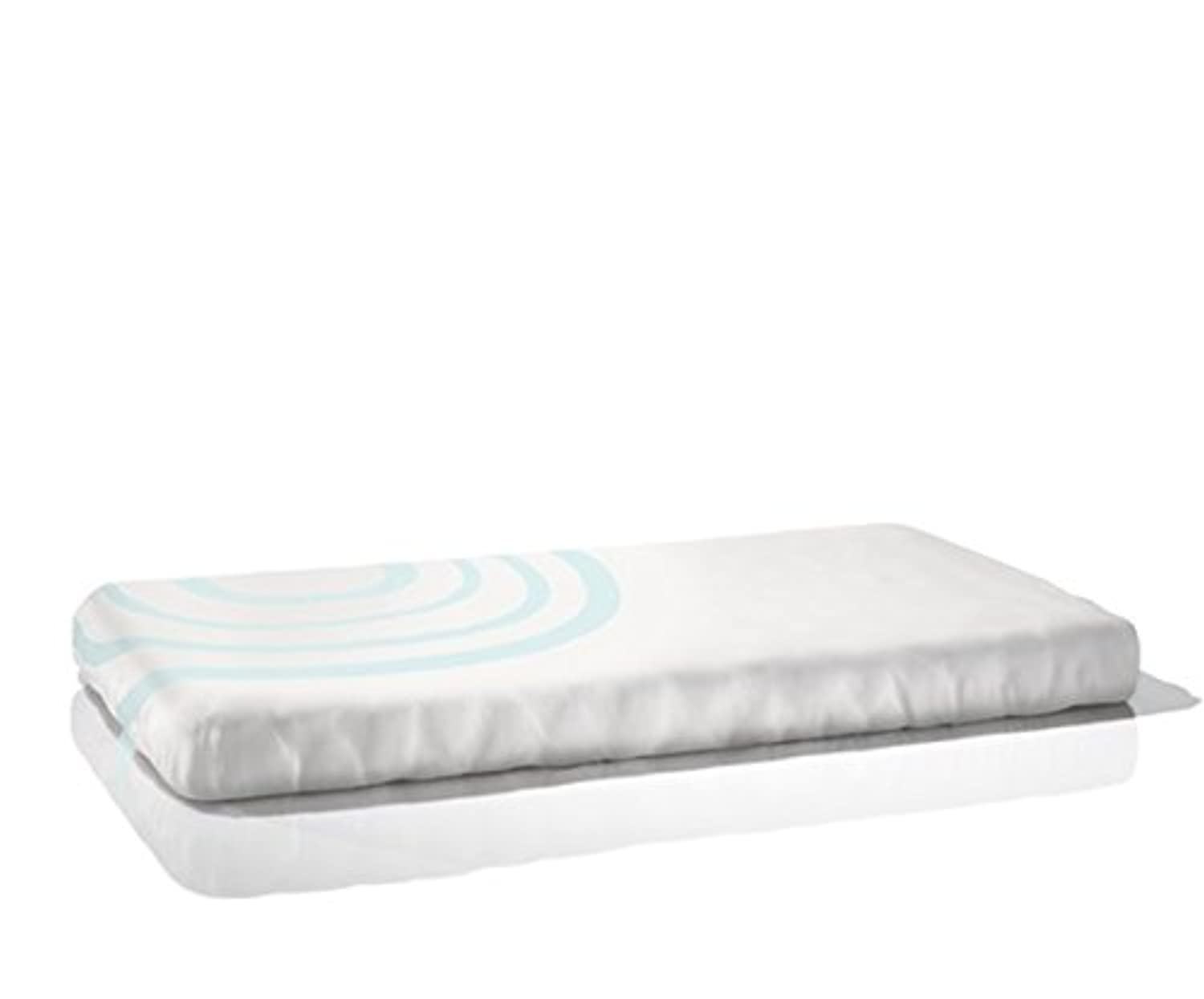 Nook Sleep Systems Organic Fitted Crib Sheet (Ripple Design Seaglass (Light Blue)) by Nook