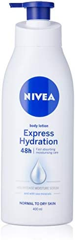 NIVEA Express Hydration Body Lotion & Moisturiser. Fast Absorbing with Intensive Moisture Serum & Sea