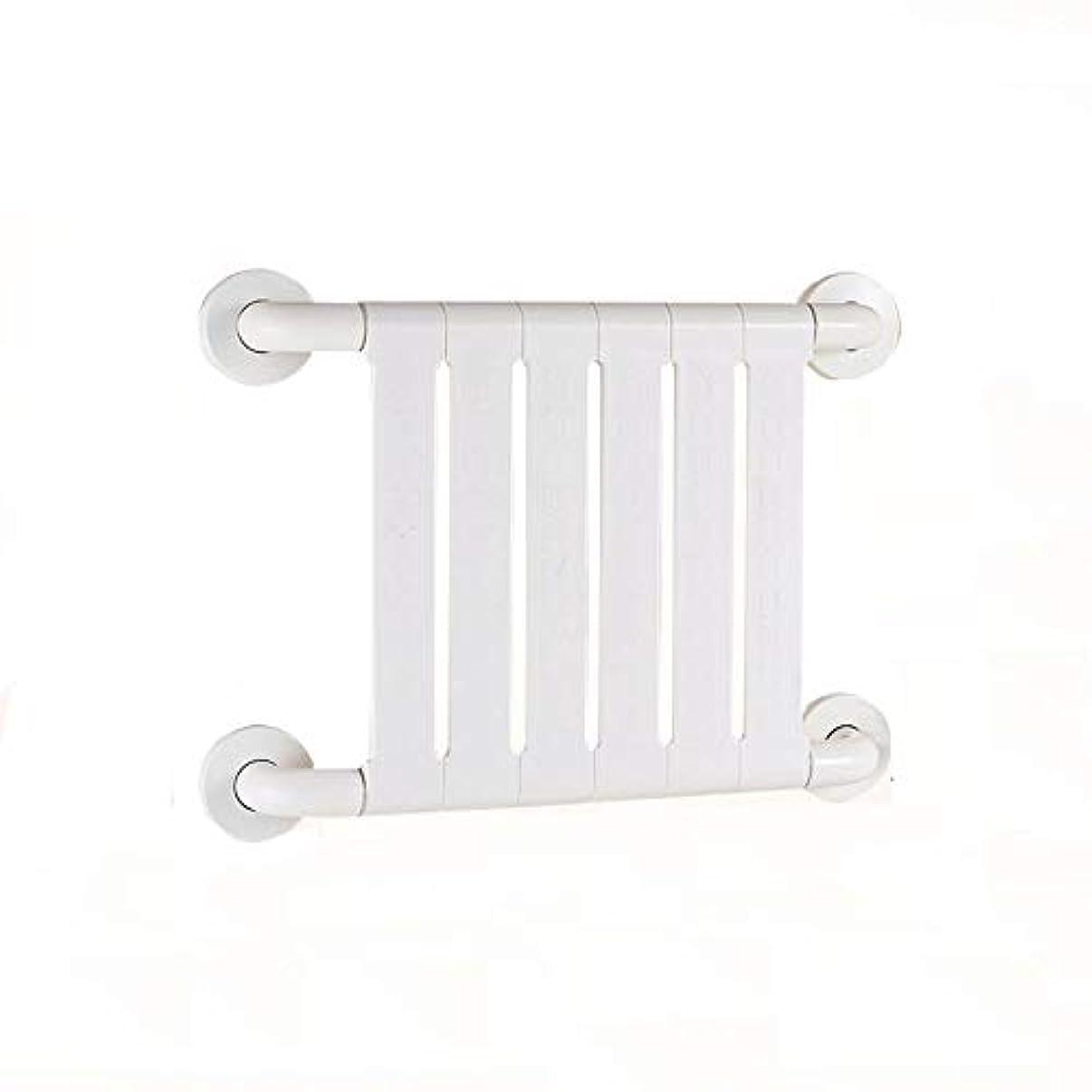 行接続されたナイロン滑り止め防錆抗菌手すり高齢者障害者用アームレスト妊娠中の女性バスルームトイレバスルームの安全ハンドル (Color : 白)