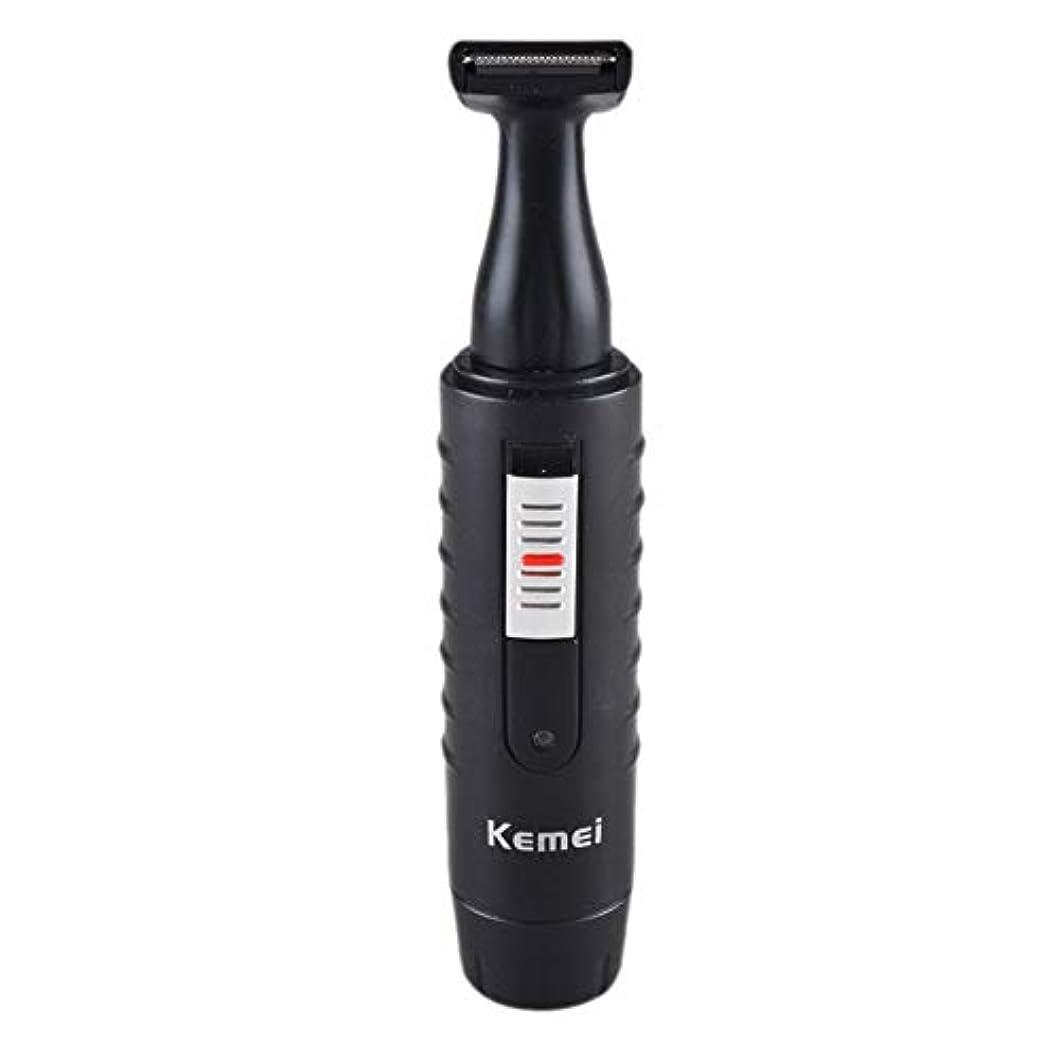 少し無法者間違い男性と女性のための2-1電気鼻&耳ヘアトリマー充電式洗えるひげヘアシェーバーフェイスケアデバイス