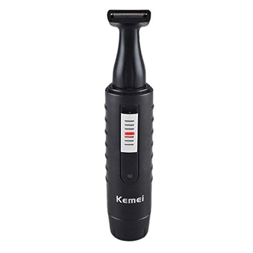 ポーズリスク正統派男性と女性のための2-1電気鼻&耳ヘアトリマー充電式洗えるひげヘアシェーバーフェイスケアデバイス