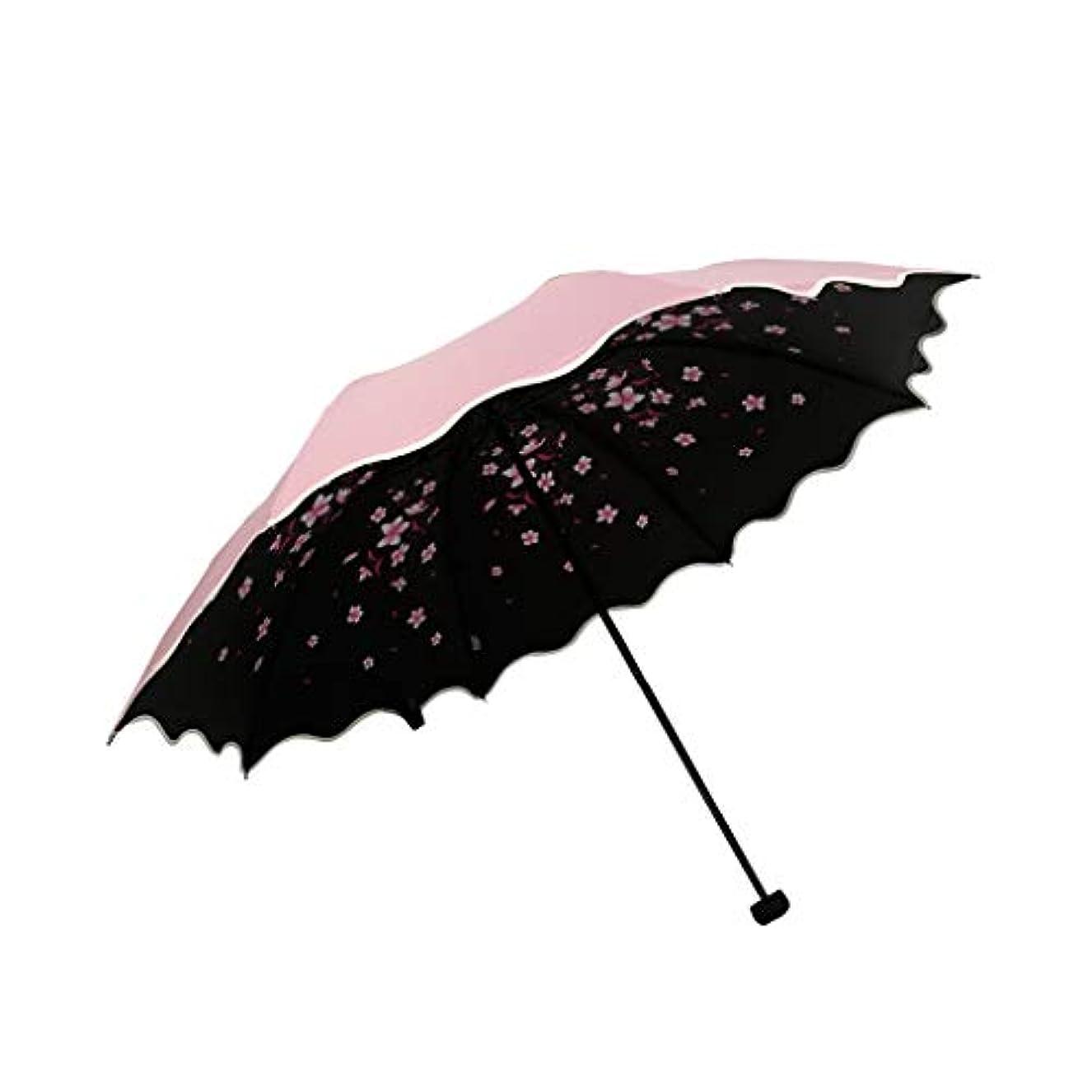 作り上げるコードレス終わりPy 傘スーパー日焼け止め抗UV傘補強折りたたみデュアルユース日傘印刷装飾