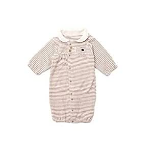 【再入荷】【オーガニックコットン】ベビー 新生児 長袖 コンビ ドレス 2Way50~60cm(3~6kg) R