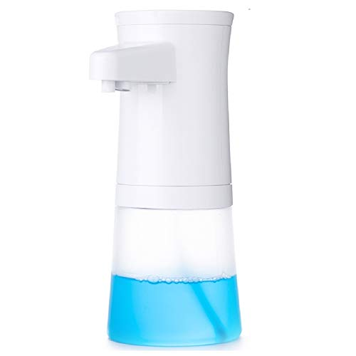 lantoo ソープディスペンサー 自動 泡 ハンドソープ ディスペンサー 防水 350ML大容量 電池式 センサー非接触 透明ボトル残量確認可 除菌 キッチン 風呂 浴室 食器洗い 手洗い