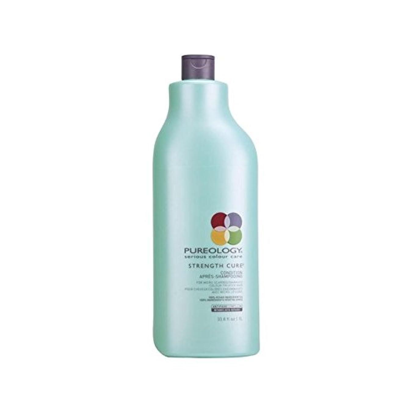 広告主クレデンシャル方法強度硬化コンディショナー(千ミリリットル) x4 - Pureology Strength Cure Conditioner (1000ml) (Pack of 4) [並行輸入品]
