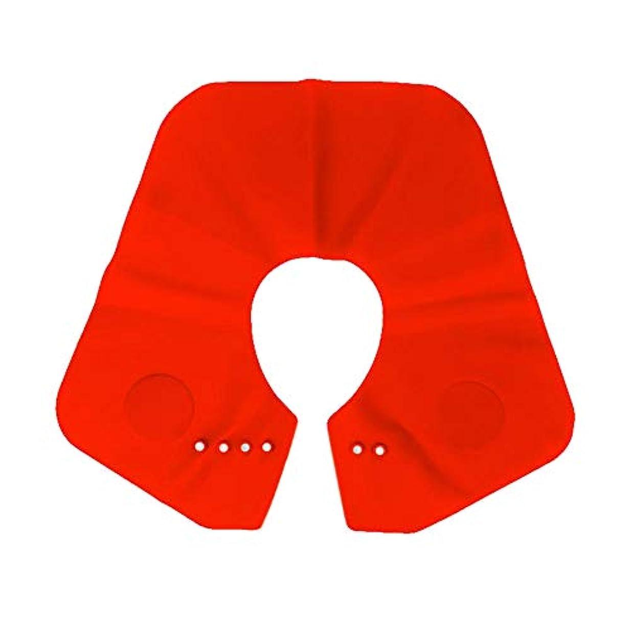 劣る感嘆符アトラスGaoominy シリコーン ショール シリコーンカット スーパーカラーネックシールドヘアカットショール防水焦げ付き防止ヘアスタイル脱毛 赤色