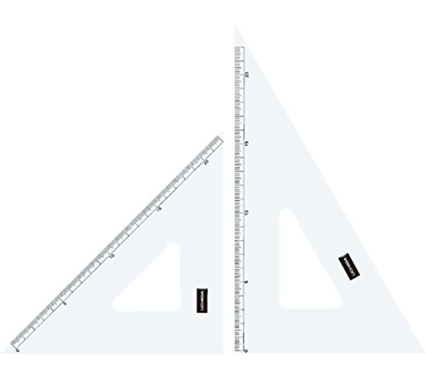同僚文芸適切にウチダ 三角定規 18cm×2mm 目盛り付 1-809-1802