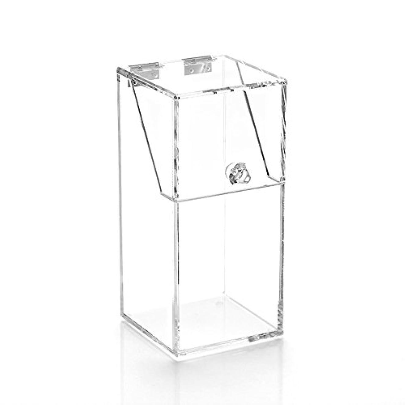 王女変装したメトリックYouth Union ブラシ収納ボックス、大容量のストレージボックス透明なアクリル (10*10*21.5CM)