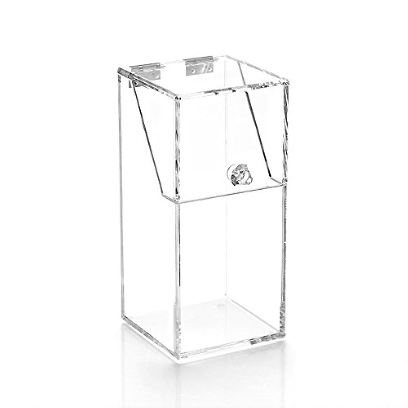 はぁ請求書昇るYouth Union ブラシ収納ボックス、大容量のストレージボックス透明なアクリル (10*10*21.5CM)