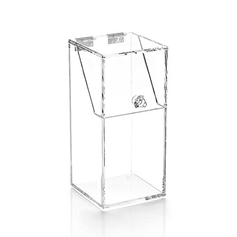 権限共和国円周Youth Union ブラシ収納ボックス、大容量のストレージボックス透明なアクリル (10*10*21.5CM)