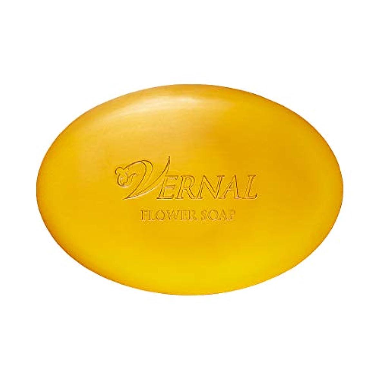 バドミントンブレーキ世界フラワーソープ110g ヴァーナル 洗顔石鹸 オーガニック 仕上げ用