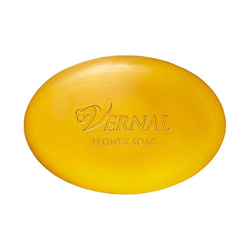 手を差し伸べるインストールびっくりフラワーソープ110g ヴァーナル 洗顔石鹸 オーガニック 仕上げ用