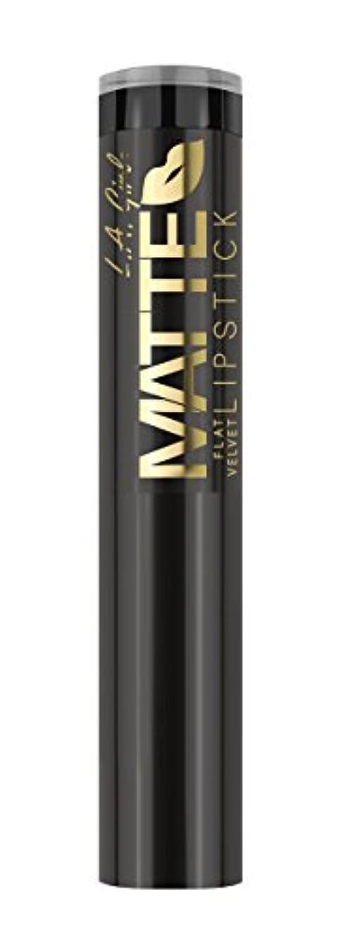 不機嫌そうなキルス報復するL.A. GIRL Matte Flat Velvet Lipstick - Raven (並行輸入品)