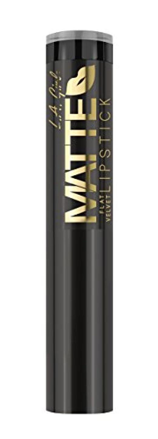 悪化させる報奨金欠員L.A. GIRL Matte Flat Velvet Lipstick - Raven (並行輸入品)