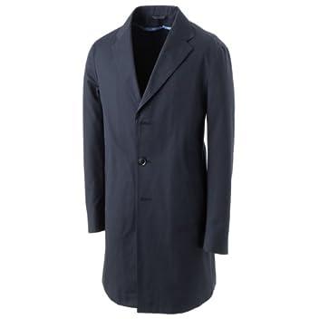 eidos Cotton Gabardine Chesterfield Coat: Navy