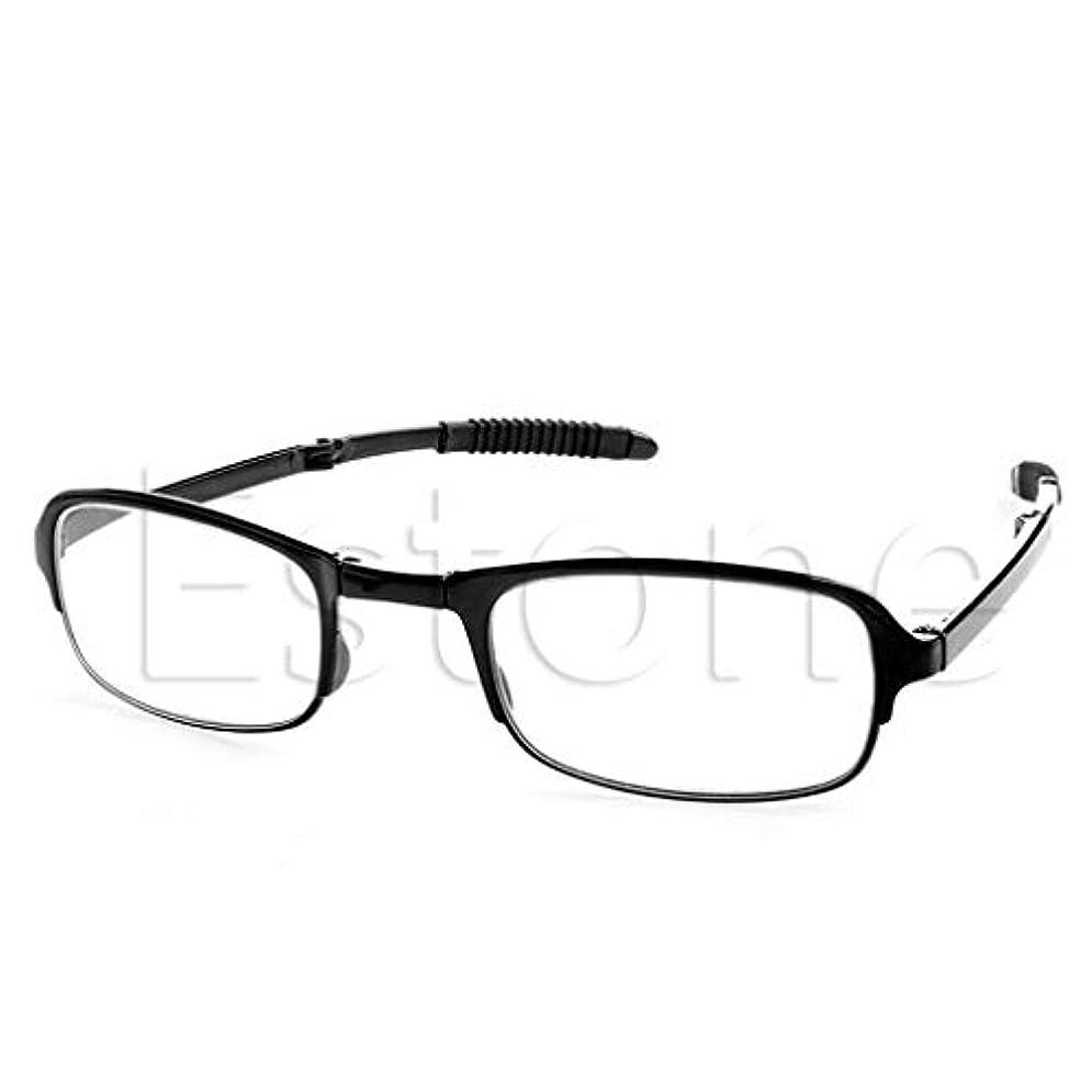 コショウ十代責任者jackyee Tr9折りたたみ式老眼鏡-ブラック+350ユニセックス折りたたみ式老眼鏡折りたたみ式ハンギング+1 +1.5 +2 +2.5 +3 +3.5 +4.0
