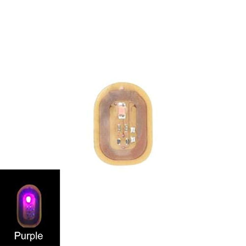 無限音楽を聴くアラームACHICOO ネイルステッカー NFC ネイルアート ヒント DIYステッカー 電話 LEDライト フラッシュパーティー デコレーション ネイルチップ 紫色の光