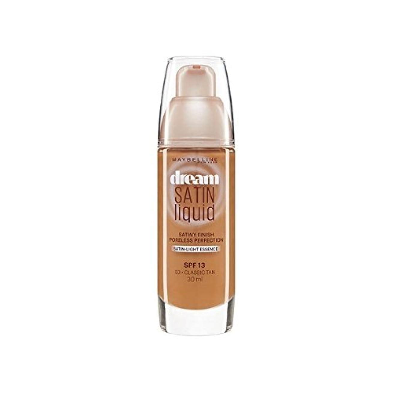 同意する分配します販売計画メイベリン夢サテンリキッドファンデーション53古典的な日焼け30ミリリットル x4 - Maybelline Dream Satin Liquid Foundation 53 Classic Tan 30ml (Pack...