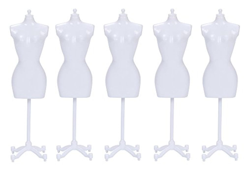 【TKY】 高品質 ドールトルソー ミニチュアトルソー 人形トルソー ドールマネキン 1/6 5点 セット ホワイト