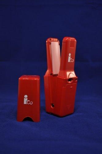 メイクビー ヘアアイロン ico (アイコ) 電池式 コンパクト ミラノレッド