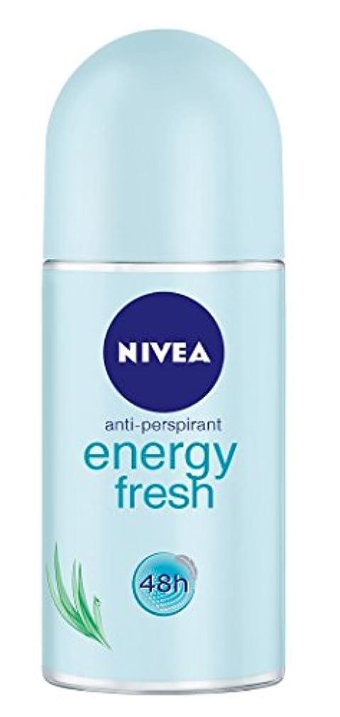 未来カウンターパート注釈を付けるNivea Energy Fresh Anti-perspirant Deodorant Roll On for Women 50ml - ニベアエネルギー新鮮な制汗剤デオドラントロールオン女性のための50ml