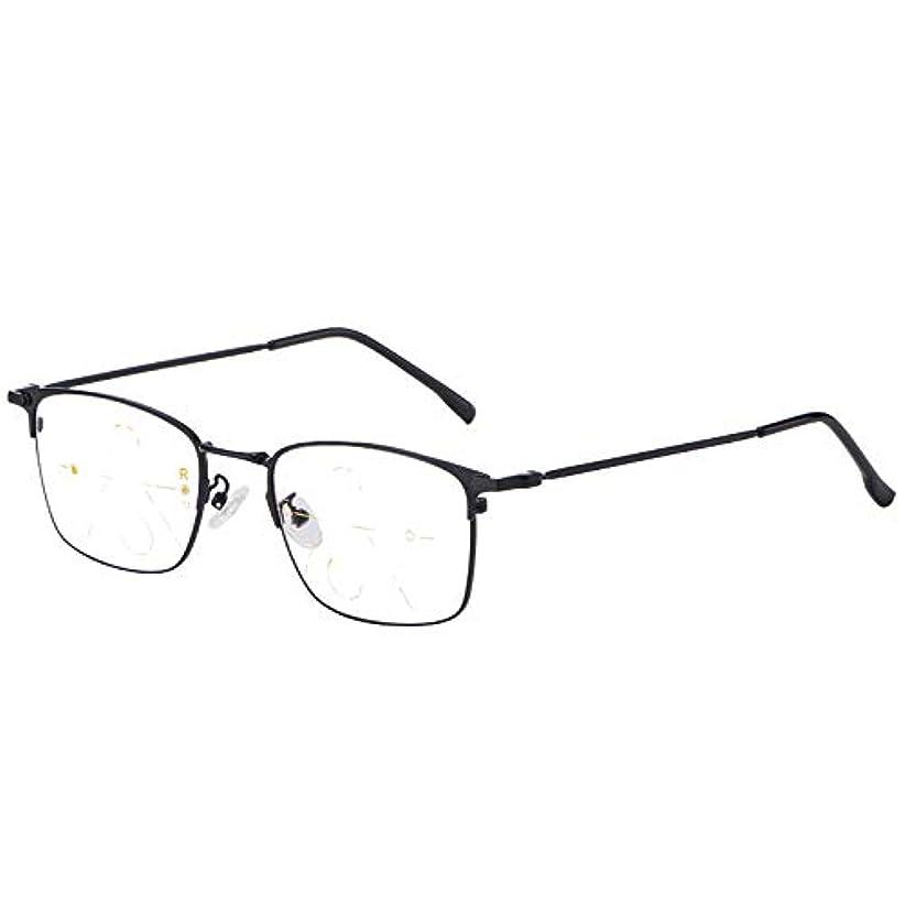 老眼鏡、スマートズーム、色の変更、および一致するメガネケース、メガネ布を含む、男性と女性のための黒の老眼鏡1.50倍春ヒンジリーダー