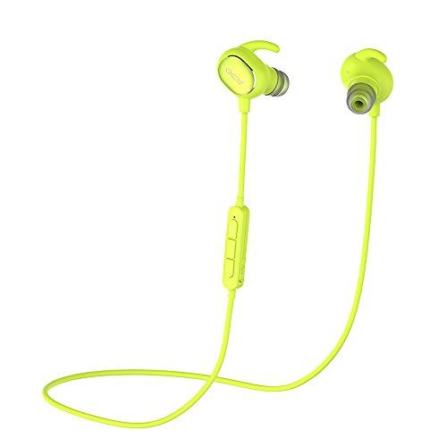 QCY Bluetooth イヤホン ブルートュース4.1 apt-Xコーデック高音質 QY19 ヘッドホン スポーツ仕様 QY8上位モデル 防水防滴 ワイヤレスイヤホン CVC6.0 ノイズキャセリング搭載 ハンズフリー通話 Bluetooth ヘッドセット iPhone7/Androidスマホ対応【メーカー直販/1年保証付】技適認証済(グリン)