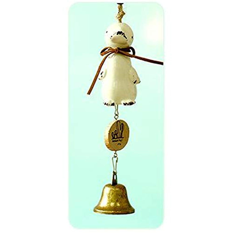 ポジティブ窒息させるシュートYoushangshipin 風チャイム、セラミック風チャイム漫画の動物、ホワイト、全長約20cm,美しいギフトボックス (Color : C)