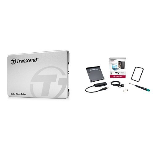Transcend SSD 480GB 2.5インチ SATA3 6Gb/s TLC採用 3年保証 TS480GSSD220S + SSD換装サポートキットセット