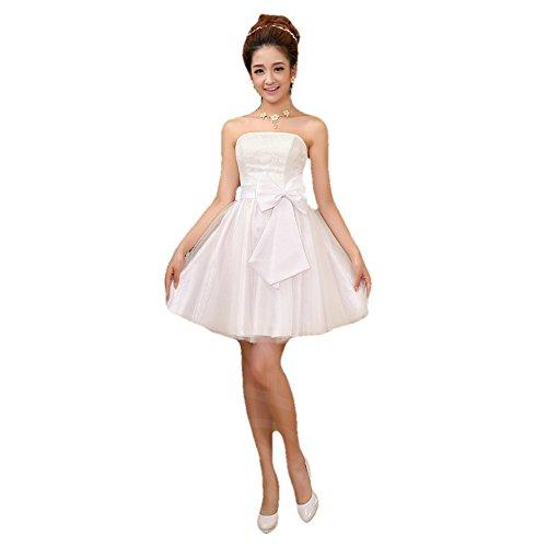 パーティー 結婚式 ドレス ( 白 フリーサイズ )( パー...