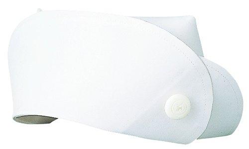 医療ユニフォーム ナースキャップ  看護帽子(ボタン) 渡辺雪三郎ライン KAZEN ホワイト フリー YW61-1