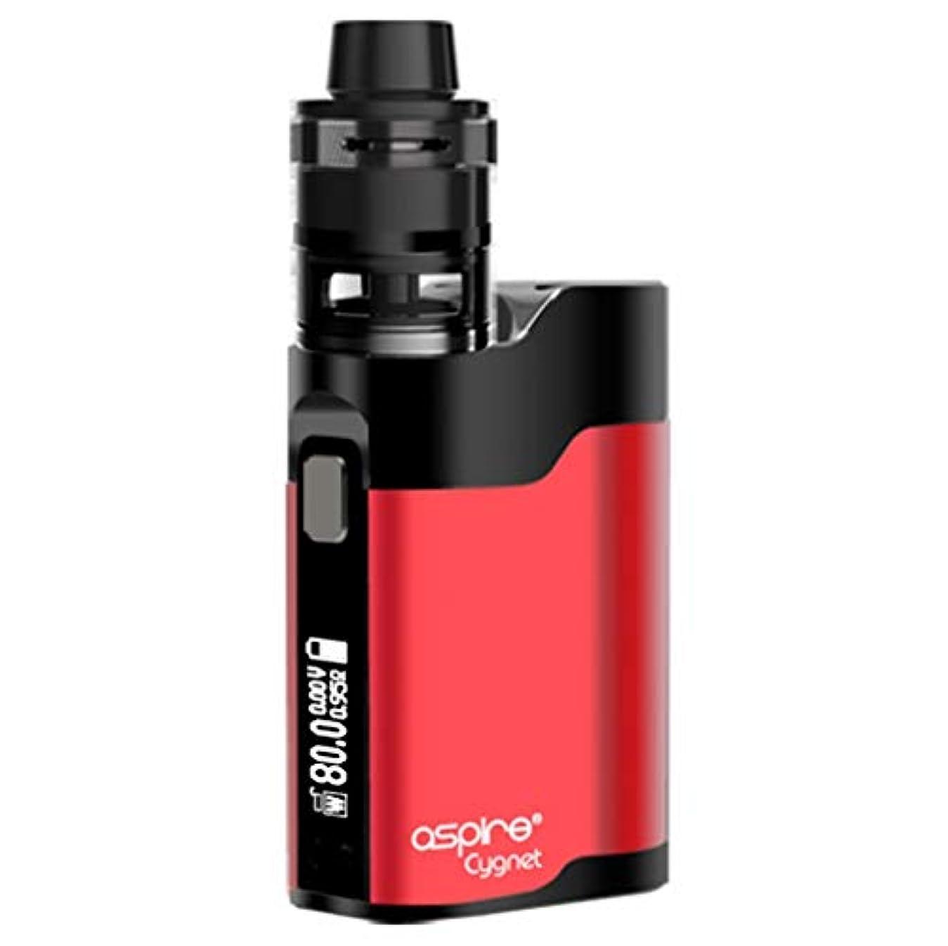 ファウル病院必要Aspire Cygnet Revvo 80W VW KIT アスファイア シグネット レボ ミニ  VAPE 電子タバコ (Red&Black)