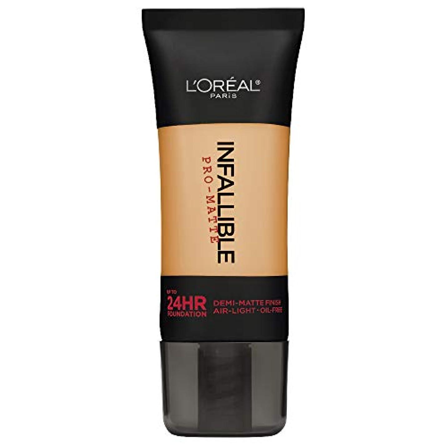 目の前の無知ラフ睡眠L'Oreal Paris Infallible Pro-Matte Foundation Makeup, 105 Natural Beige, 1 fl. oz[並行輸入品]