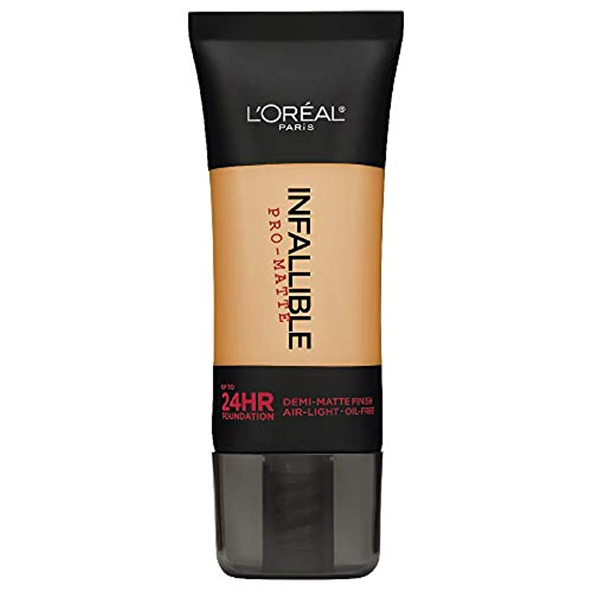 生き返らせるルーキーコントラストL'Oreal Paris Infallible Pro-Matte Foundation Makeup, 105 Natural Beige, 1 fl. oz[並行輸入品]