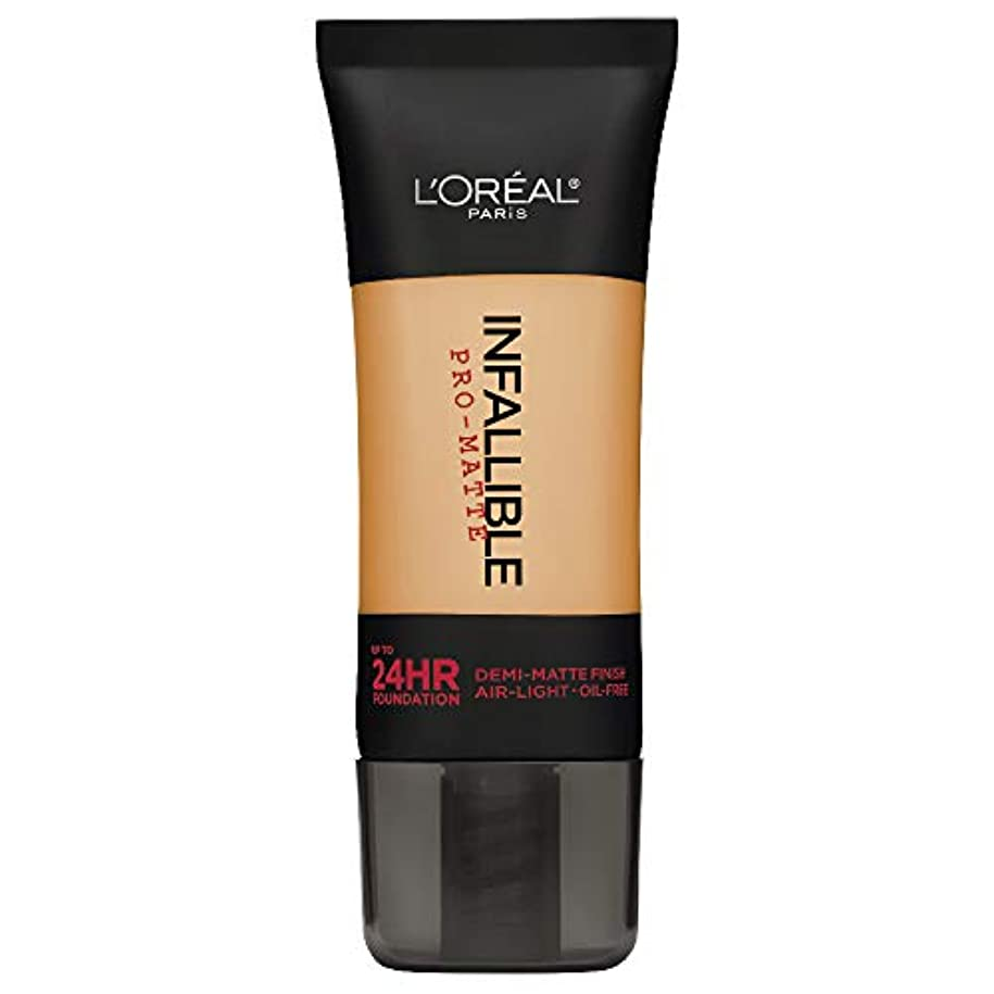 代表して賄賂束L'Oreal Paris Infallible Pro-Matte Foundation Makeup, 105 Natural Beige, 1 fl. oz[並行輸入品]