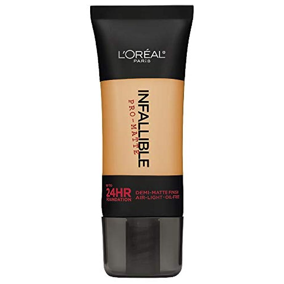 電気技師円形の偏心L'Oreal Paris Infallible Pro-Matte Foundation Makeup, 105 Natural Beige, 1 fl. oz[並行輸入品]