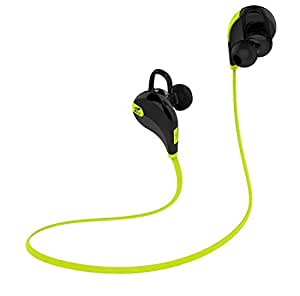 SoundPEATS【メーカー直販/1年保証付】QY7 Bluetooth イヤホン 高音質 ハンズフリー通話 CVC6.0 ノイズキャンセリング搭載 防水 防滴 スポーツ仕様 ワイヤレス イヤホン(ブラック/グリーン)