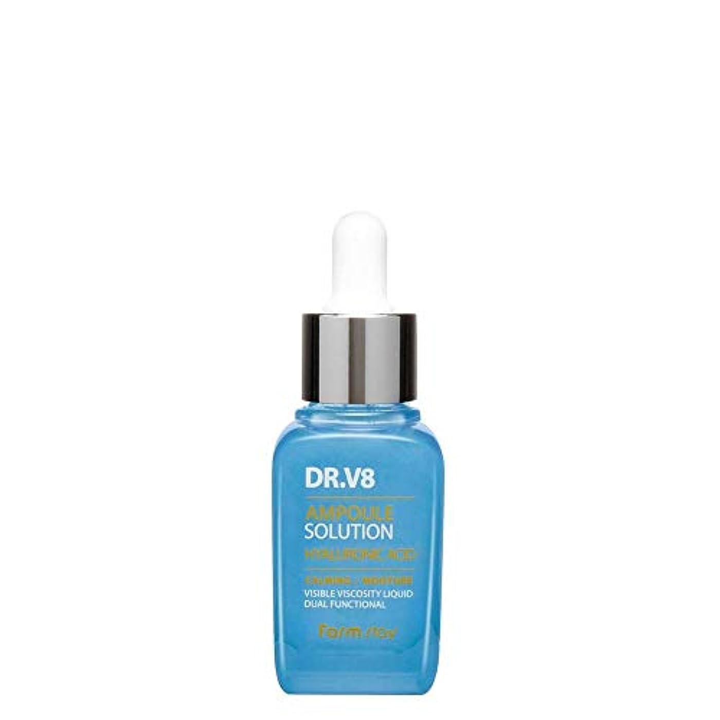 ウェイトレススナップ本物ファームステイ[Farm Stay] Dr. V8 アンプルソリューション (ヒアルロン酸) 30ml / V8 Ampoule Solution Hyaluronic Acid