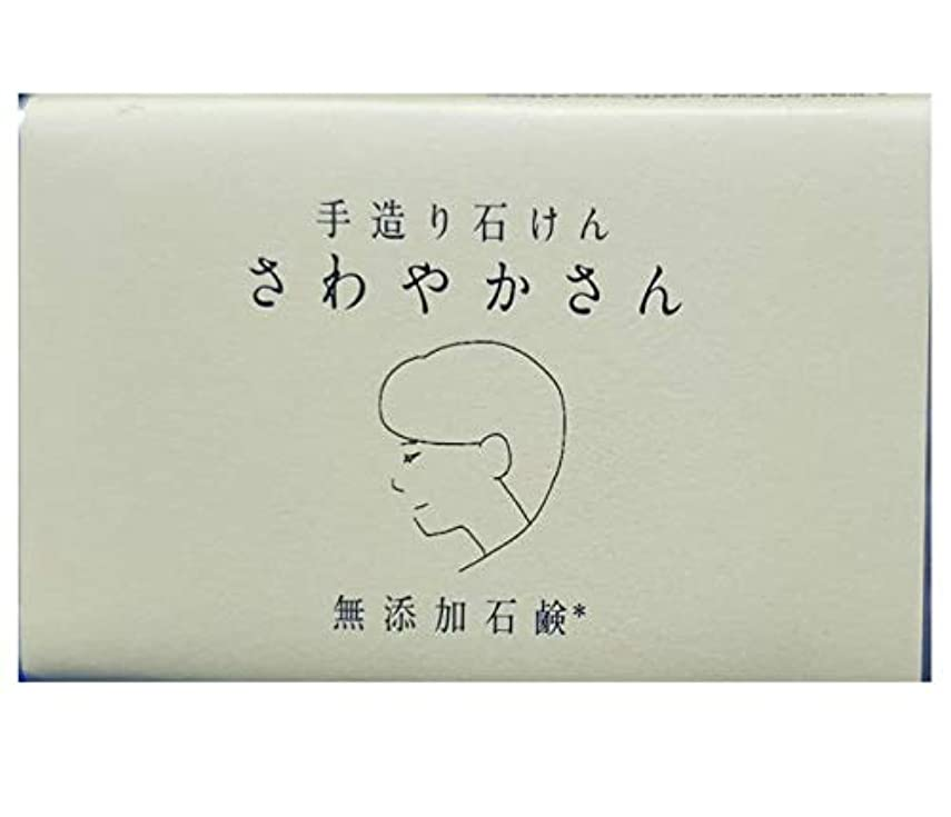 実質的乗って苗やさしい 手造り石鹸 「さわやかさん」90g 無添加 (さわやかさん) コールドプロセス製法