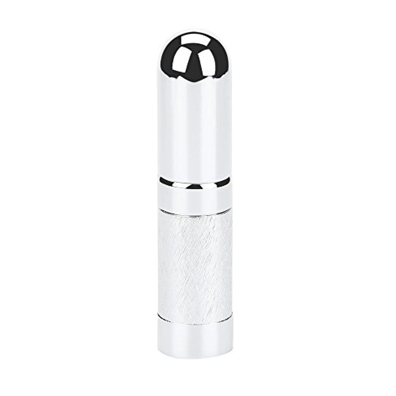 ライトニング品揃え失礼スプレーボトル 遮光 YOKINO アトマイザ- 詰め替え ポータブル クイック 香水噴霧器 携帯用 詰め替え容器 香水用 ワンタッチ補充 香水スプレー パフューム  プシュ式 6ml (シルバー)
