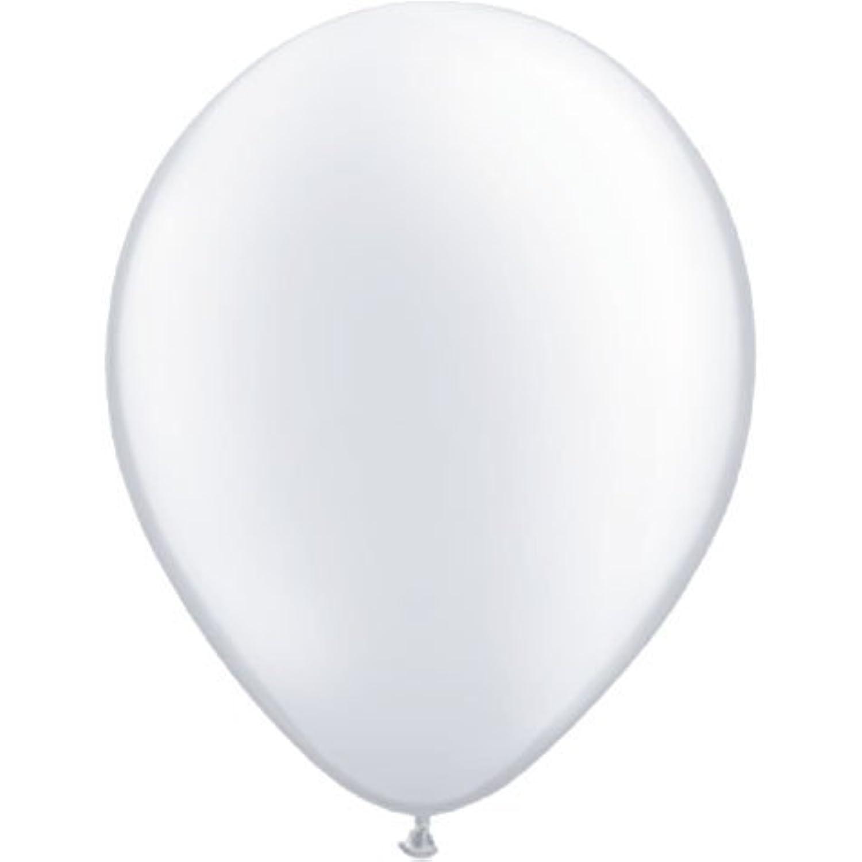 5インチ( 100 ct。)-pearlホワイトQualatexラテックスバルーンby Mayflower製品