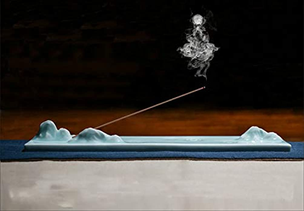 マンモスに向かって波PHILOGOD 陶器香炉 青花磁器クリエイティブスタイリング 線香立て 仏壇用香置物 香皿