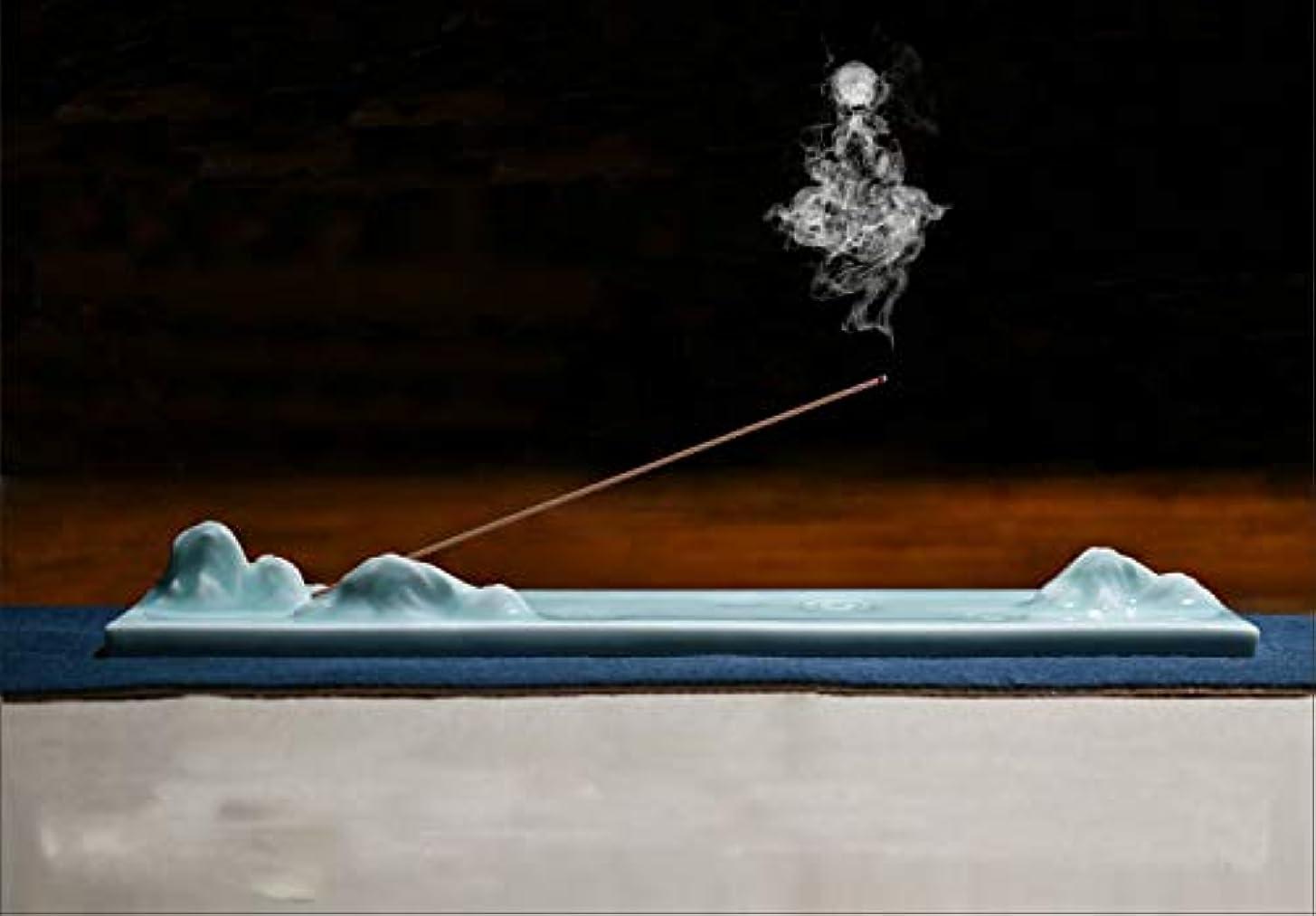 慢愛国的な三角形PHILOGOD 陶器香炉 青花磁器クリエイティブスタイリング 線香立て 仏壇用香置物 香皿