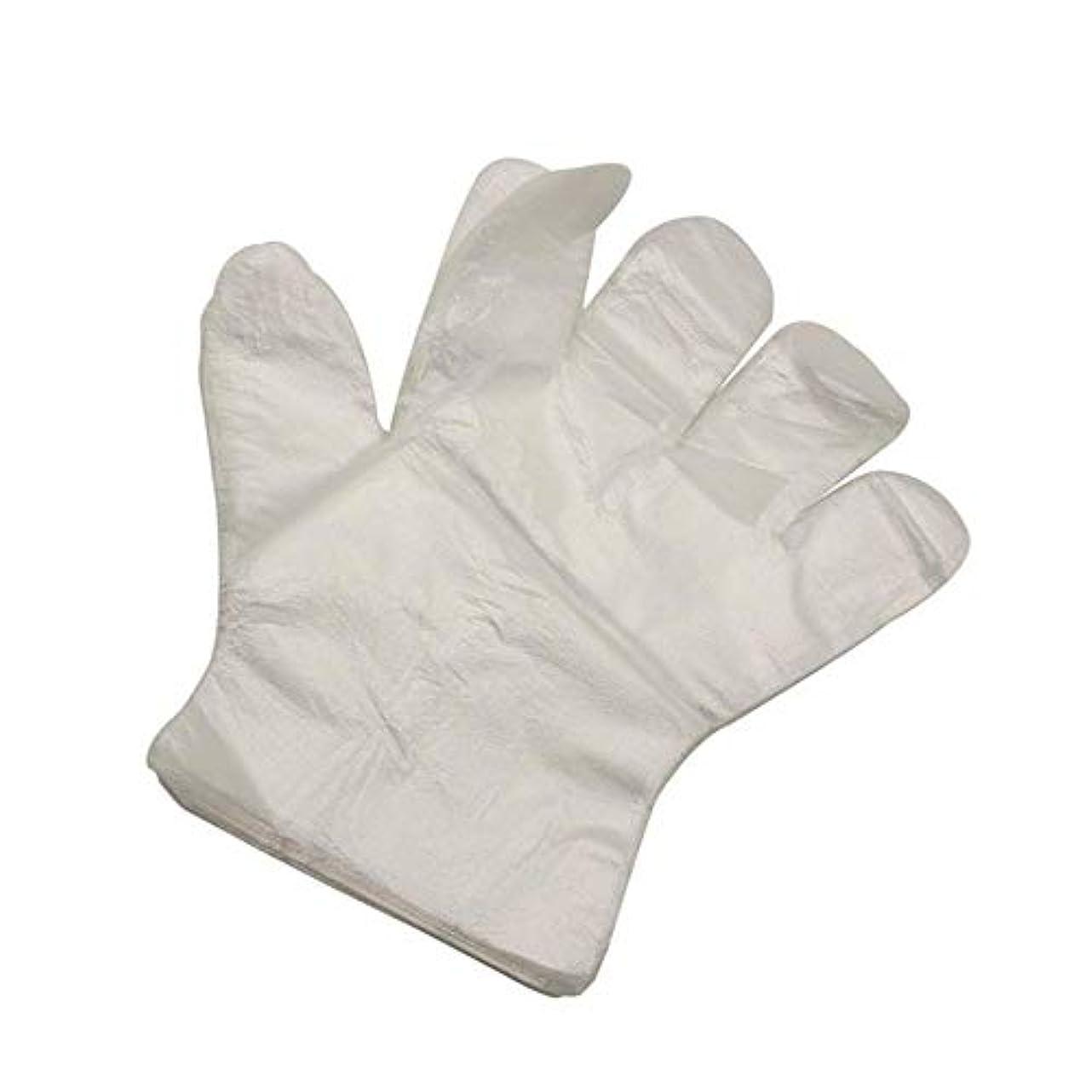 プログラムメロドラマティックコテージ使い捨て手袋 極薄ビニール手袋 調理 透明 実用 衛生 左右両手が使える 家、レストラン、掃除、木工に使用することができます (1000)