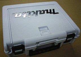 マキタ小型工具収納ケース【小物入れ付】 白 インパクト、バッテリー2個、充電器が収納可能